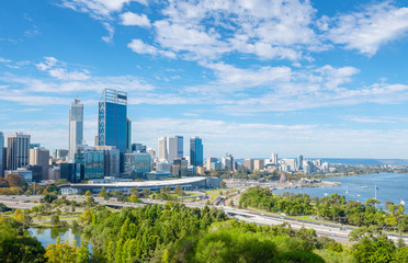 Photo sur Aluminium Australie Perth view at the noon