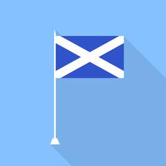 Scotland Flag. Vector illustration .
