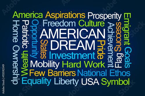 american dream word cloud stockfotos und lizenzfreie bilder auf bild 113592549. Black Bedroom Furniture Sets. Home Design Ideas