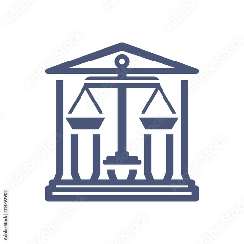 """""""Law firm logo icon with vintage scale in balance symbol ..."""