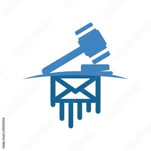 Logo design judge hammer icon symbol law firm im genes for Descargar embroidery office design 7 5 full