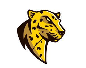 Leadership Animal Logo - Calm Cheetah Character