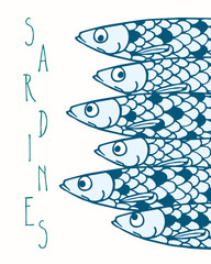 Vector sardines illustration