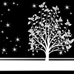 arbre bandeau blanc