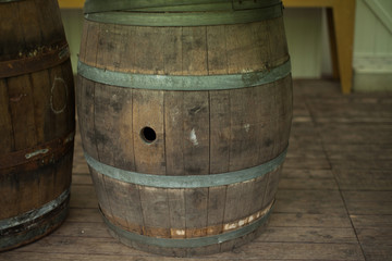 Old Wood Barrel