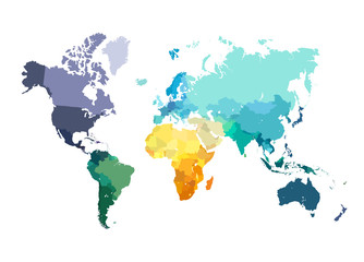 Color World Map Illustration