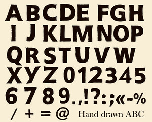 Vector hand made font in hipster style