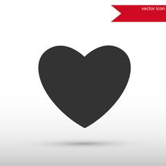 Heart Icon. Flat design style.