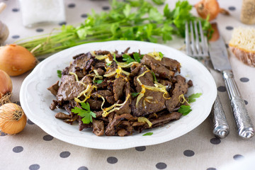 Grilled Liver with Onions