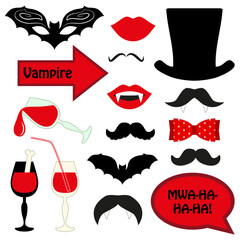 Cute set of halloween vampire photo booth props! Grab a prop and strike a pose!