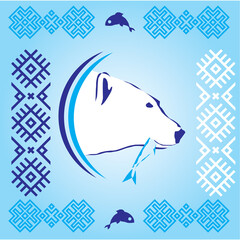 Polar bear - vector illustration