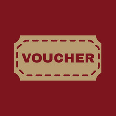 Poster Vintage Poster The voucher icon. Coupon and gift, offer, discount symbol. Flat