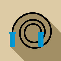 Skipping rope icon, flat style