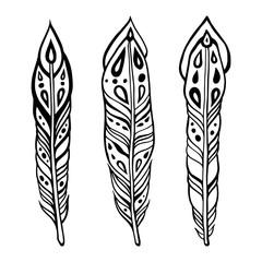 Vintage ethnic feathers.