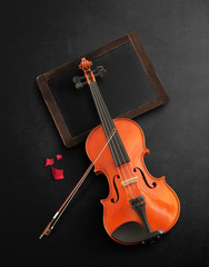 Violin Background stage