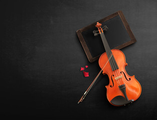 Violin Background stage
