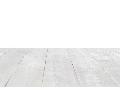 white table on white background