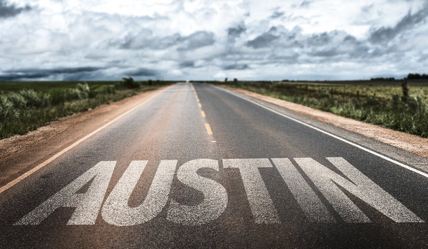 Austin written on the road