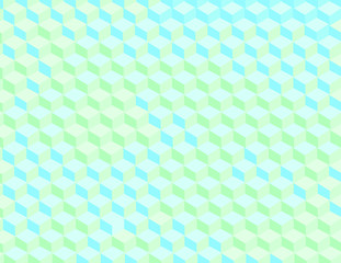 3d cubes vector background in retro colors