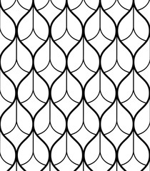 Abstract geometric pattern with wavy lines, stripes. A seamless vector background. Brown and white ornament.