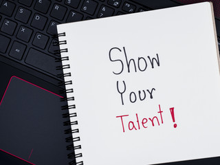 Talent Management on laptop keyboard