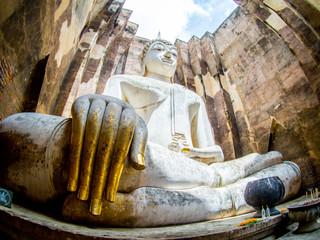 Big Buddha in Wat Sri Chum : Temple in Sukhothai historical park, Sukhothai, Thailand