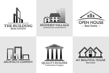 Pack Real Estate Logos Vector Design