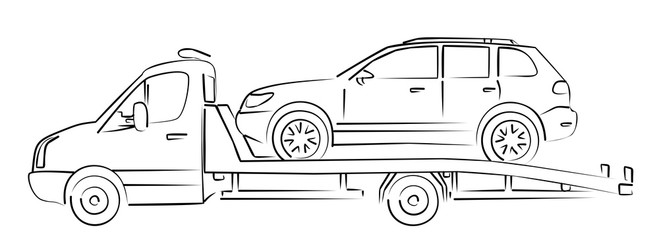 tow truck Sketch.