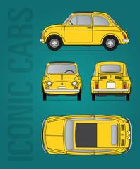 Retro Italian car