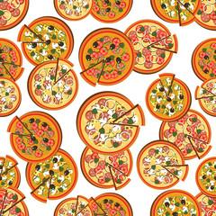 Pizzeria seamless pattern