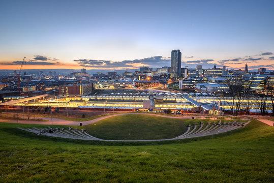 Skyline Sheffield south Yorkshire England UK
