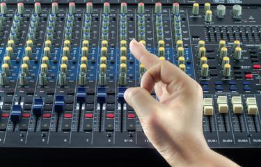 Live Sound Mixers and music studio Hand symbol