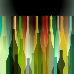 Background with bottles