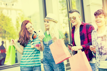 Friends shopping time