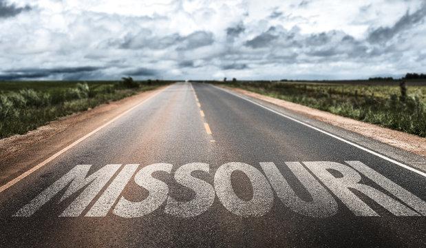 Missouri written on the road