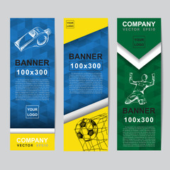 Abstract flag colour banner