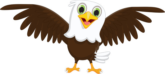 cute little eagle cartoon