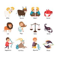 Images of zodiac signs: Aries, Taurus, Gemini, Cancer, Leo, Virgo, Libra, Scorpio, Sagittarius, Capricorn, Aquarius, Pisces