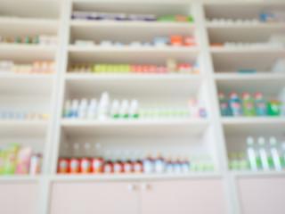 blur pharmacy store shelves