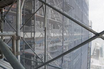 Apartment building under construction, japan