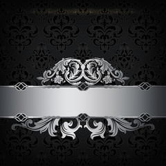 Black and silver decorative background.