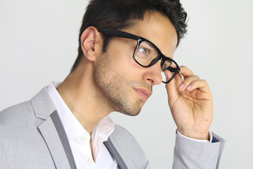 handsome man wearing a pair of glasses