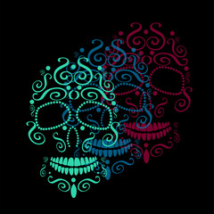 SKull vector for fashion design, tattoos or patterns