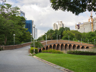 Bridges and Arches in a park