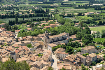 The hill top village of Boulbon in the Luberon Provence