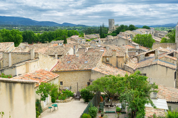 The hill top village of Cucuron in the Luberon Provence