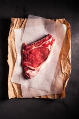 Close-up of a raw steak