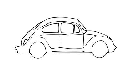 Retro car vector graphic