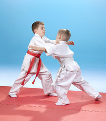 Capture of judogi are training small athletes