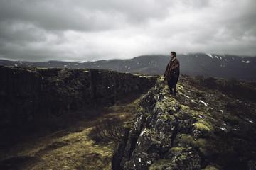 Contemplation du paysage Islandais